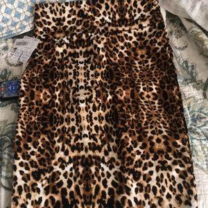 LuLaRoe Skirts - NWT leopard Cassie